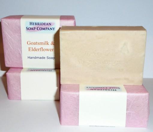 Goat's milk and elderflower soap bar