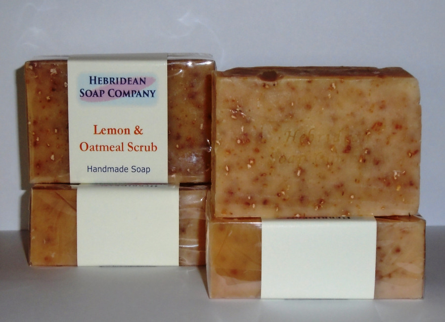 Lemon and Oatmeal Scrub soap bar