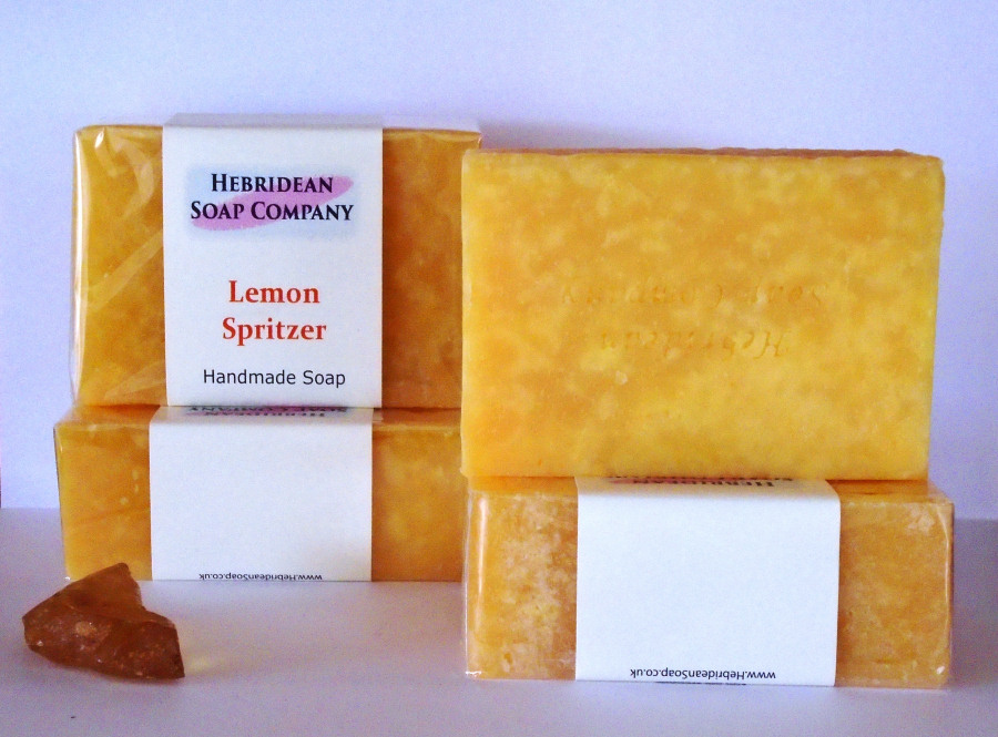 Lemon Spritzer hand-made soap bar