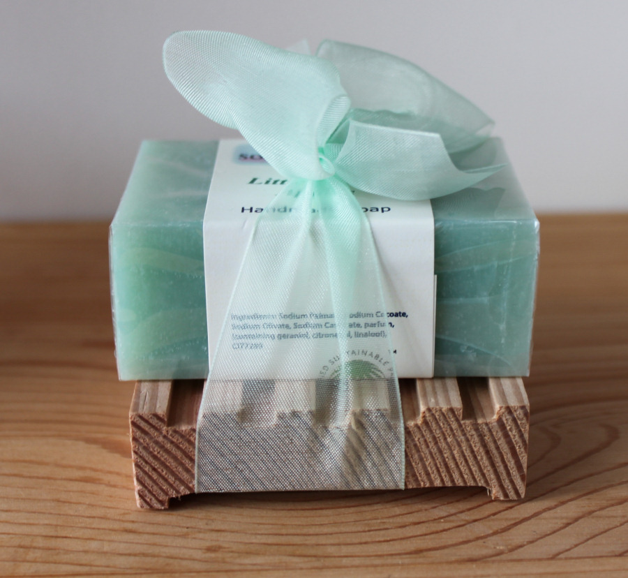 Hand-made soap with dish